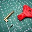 Free STL file broken key bow repair, glassy