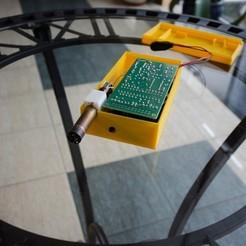 Free 3d printer files SBT9 geiger tube holder for the Vindolins geiger enclosure, glassy