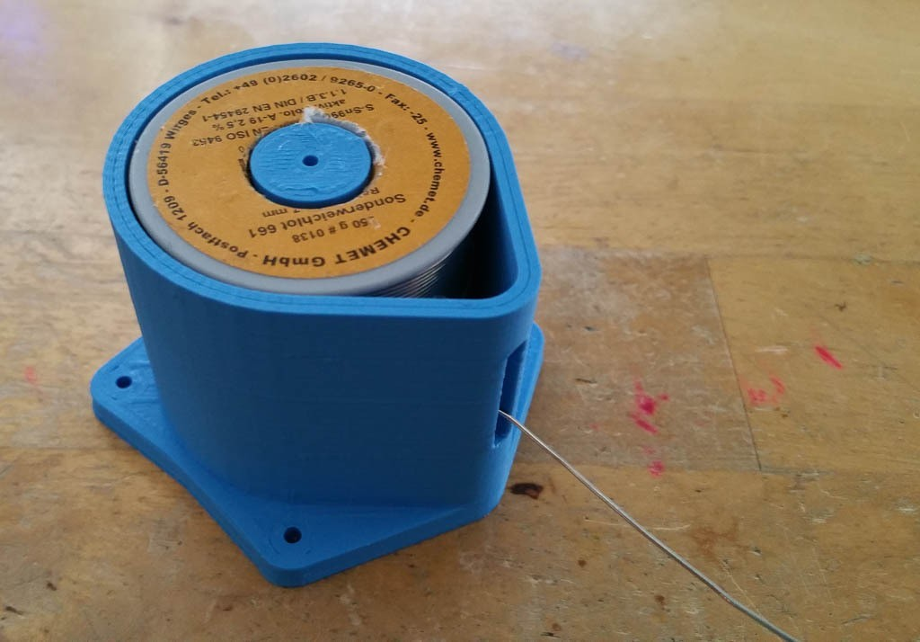 20150226_124322_display_large.jpg Download free STL file Solder wire spool can for CHEMET GmbH solder wire spools • 3D printing model, glassy