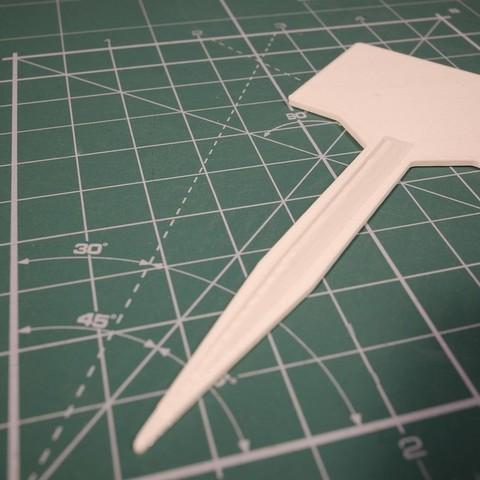 Download free 3D printer designs Plant information label holder, glassy