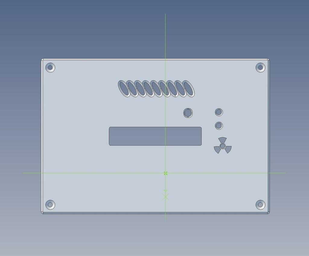 1f3533cb9dfb3393d5b56345e34bb68b_display_large.jpg Download free STL file Panel-enclosure for new SMD-based geiger counter by impexeris • 3D printable object, glassy