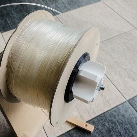 Free 3D model Filament spool fix-nut, glassy