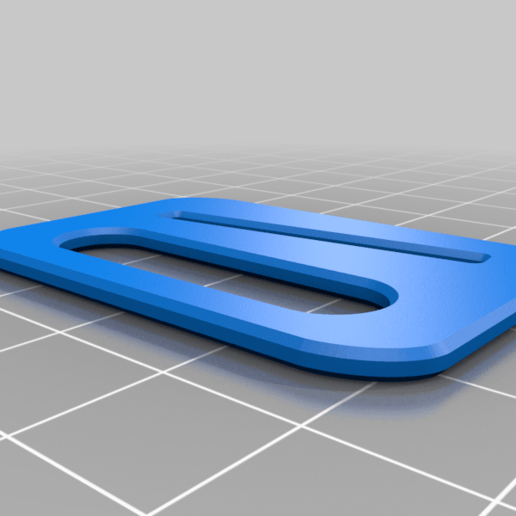 Download free STL file face-mask rubber fastening clip • 3D printable template, glassy