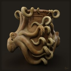 Download free 3D printing files octopus vase, kim_razor