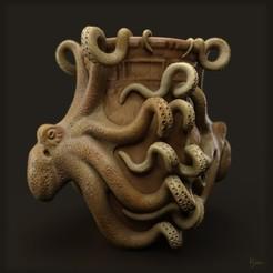 Télécharger plan imprimante 3D gatuit octopus vase, kim_razor