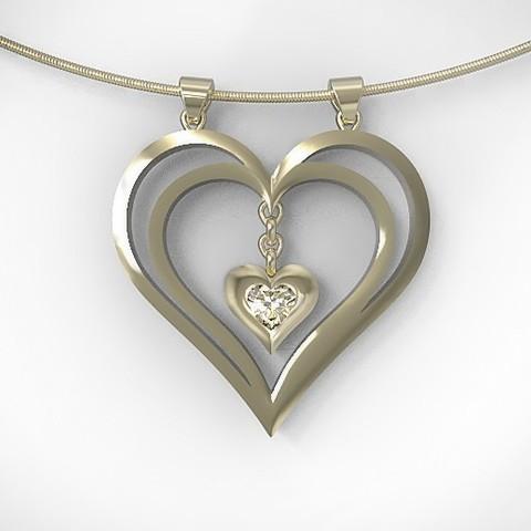 Diseños 3D Colgante de corazón, hayk3dmodeling