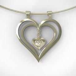 3d print files Heart pendant , hayk3dmodeling