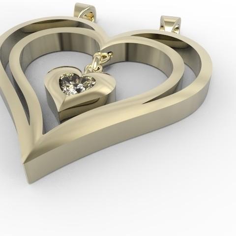 2 hp.jpg Download STL file Heart pendant  • 3D print template, hayk3dmodeling
