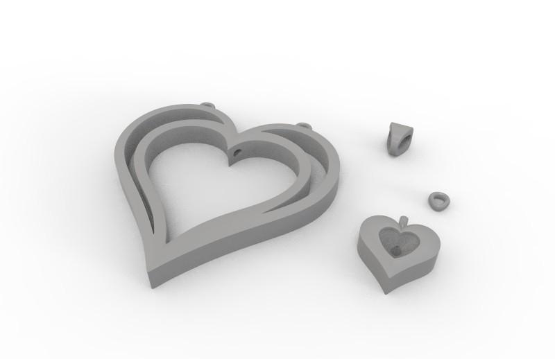 3 hp.jpg Download STL file Heart pendant  • 3D print template, hayk3dmodeling