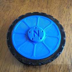 P_20170625_144829.jpg Download free STL file Wheel fidget spinner - complete with tire • Design to 3D print, MrCarefulGamer