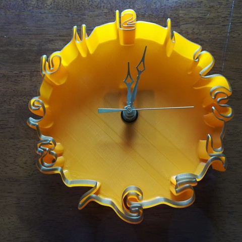 Imprimir en 3D gratis Reloj ondulado, MrCarefulGamer