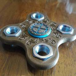 P_20170625_143654.jpg Download free STL file Steampunk Fidget Spinner • 3D printer design, MrCarefulGamer