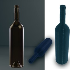 3d printer model Bottle model chinon, simonetrolka