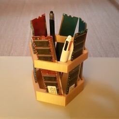 Download free STL files Pot à crayons Upcycling, iguigui