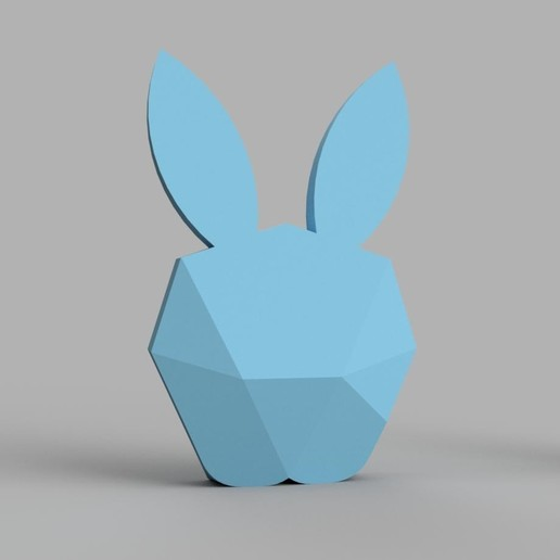 Download free 3D print files Lapin lowpoly, iguigui