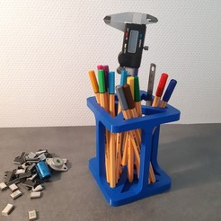 Download free 3D print files Pot à crayons design (2 parties), iguigui