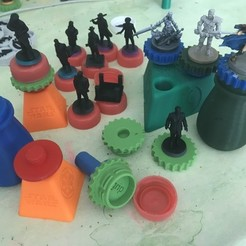 Imprimir en 3D gratis Complementos de asistente de pintura en miniatura, gthanatos