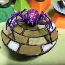 modelo stl gratis base de araña oscuridad masiva, gthanatos