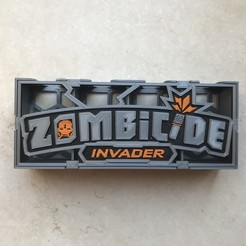 Download free STL Zombicide Invader Card Tray, gthanatos