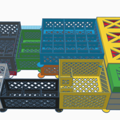 Télécharger fichier STL gratuit Ombres de l'organisateur de la boîte de soufre • Design imprimable en 3D, gthanatos