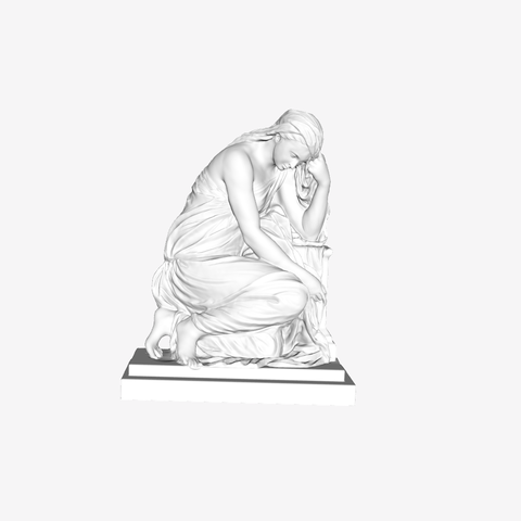 Capture d'écran 2018-09-21 à 11.16.01.png Download free STL file The Suffering 'Pleureuse' at The Louvre, Paris  • 3D printer object, Louvre