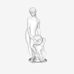 Download free STL file Young River God with Three Children at The Louvre, Paris • 3D printer template, Louvre