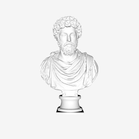 Free STL files Marcus Aurelius at The Louvre, Paris, Louvre
