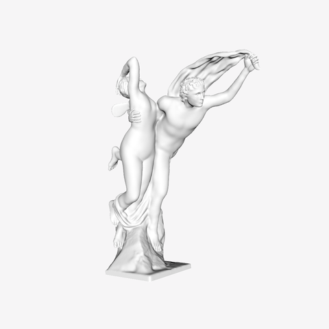 Download free 3D printer templates Zephyr and Psyche at The Louvre, Paris, Louvre