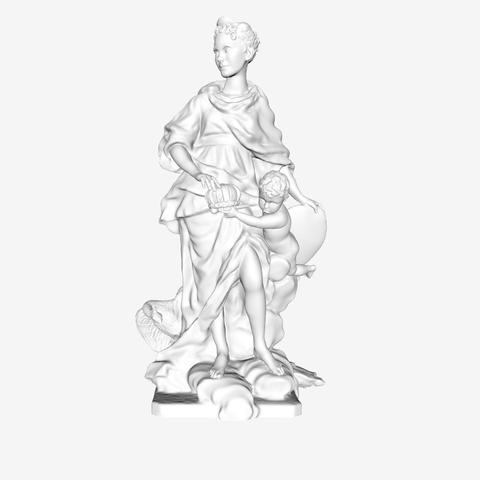 Download free 3D printer designs Marie Leszczynska at the Louvre museum, Paris, Louvre