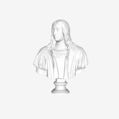 Download free STL file Bust of Raphael at The Louvre, Paris • Template to 3D print, Louvre