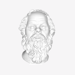 Download free STL file Socrates at The Louvre, Paris • 3D printable object, Louvre