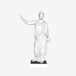 Download free 3D printer designs Athena of Velletri at the Louvre, Paris, Louvre