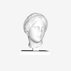 Download free STL file Female of head of the 'Aphrodite of Knidos' type at The Louvre, Paris • 3D printable object, Louvre
