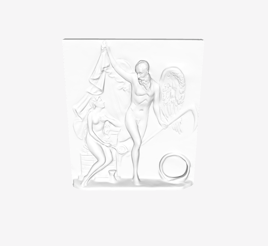Capture d'écran 2018-09-21 à 14.39.25.png Download free STL file Time Unveiling Truth at The Louvre, Paris • 3D print design, Louvre