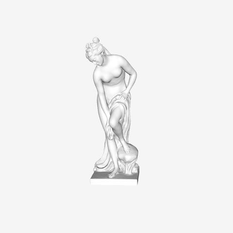 Télécharger objet 3D gratuit Bather a également appelé Vénus au Louvre, Paris, France., Louvre