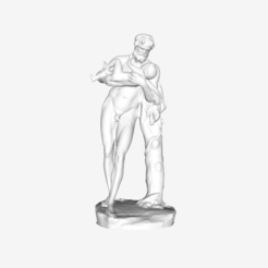 Download free STL file Silenus holding Bacchus at The Louvre, Paris • 3D printable model, Louvre