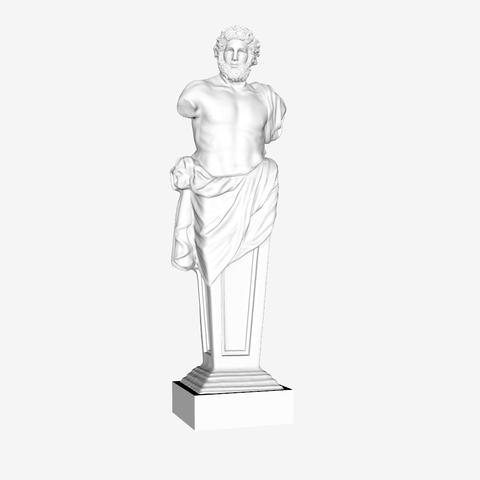 Download free STL file Jupiter of Versailles at The Louvre, Paris, France, Louvre