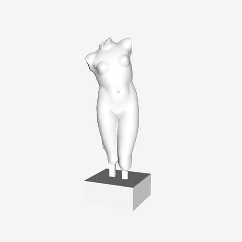 Download free STL file Fragement of The Esquiline Venus at the Louvre, Paris, Louvre