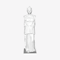 Download free 3D print files The Athena Parthenos at The Louvre, Paris, Louvre