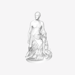 Download free 3D printer designs Nude Voltaire at the Louvre, Paris, France, Louvre