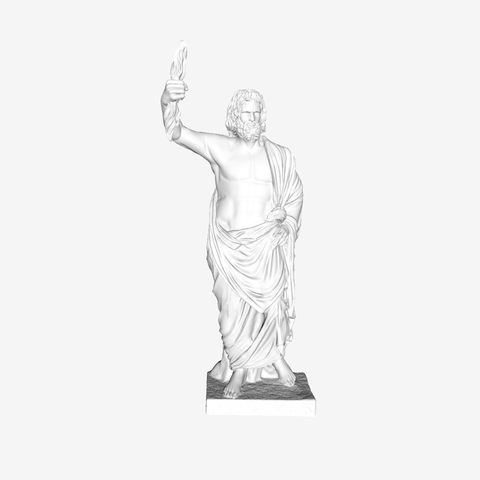Download free 3D model Jupiter of Smyrna at The Louvre, Paris, Louvre