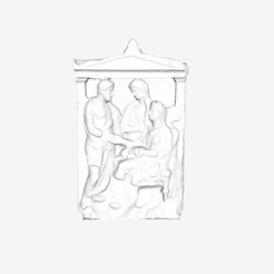 Download free 3D printing designs Funerary Stele of Phainippos at The Louvre, Paris, Louvre