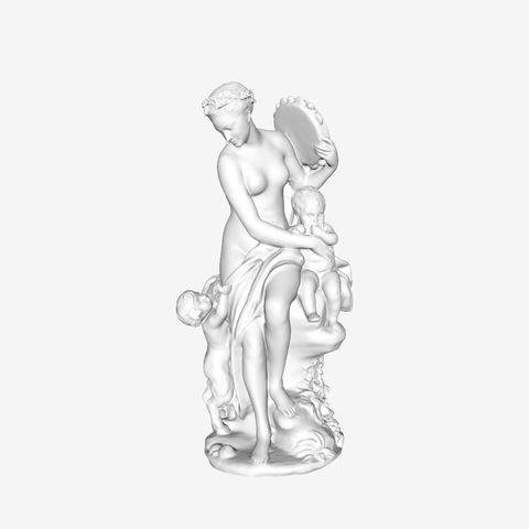 Download free 3D printing templates Bacchante with Tambourine and Child at The Louvre, Paris, Louvre