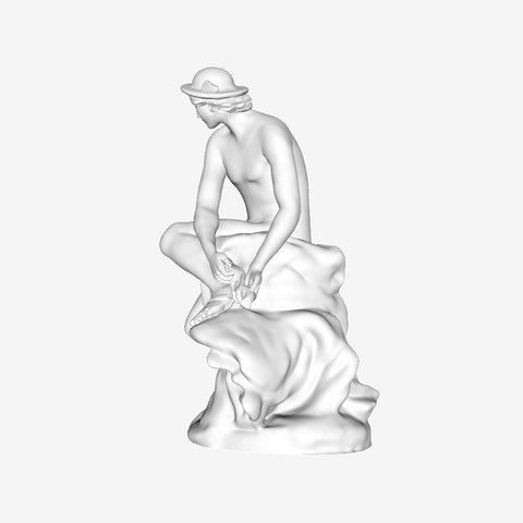 Download free 3D printing templates Mercury Attaching his Wings at The Louvre, Paris, Louvre