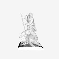 Download free 3D printer files Meleager kills a boar at the Louvre museum, Paris, Louvre