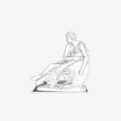 Download free STL file Hercule Gaulois at The Louvre, Paris • 3D print template, Louvre