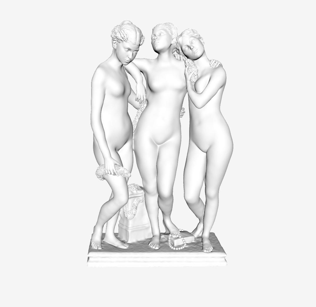 Capture d'écran 2018-09-21 à 15.22.30.png Télécharger fichier STL gratuit Les Trois Grâces au Louvre, Paris • Objet pour impression 3D, Louvre
