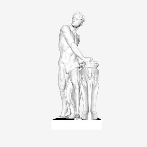 Capture d'écran 2018-09-21 à 18.17.01.png Download free STL file Gaius Mucius Scaevola at The Louvre, Paris • 3D print object, Louvre