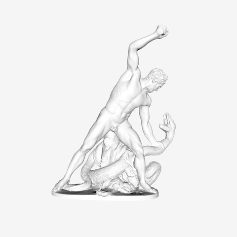 Download free 3D printing files Hercules Fight Achelous Metamorphosed into a Snake at The Louvre, Paris, Louvre