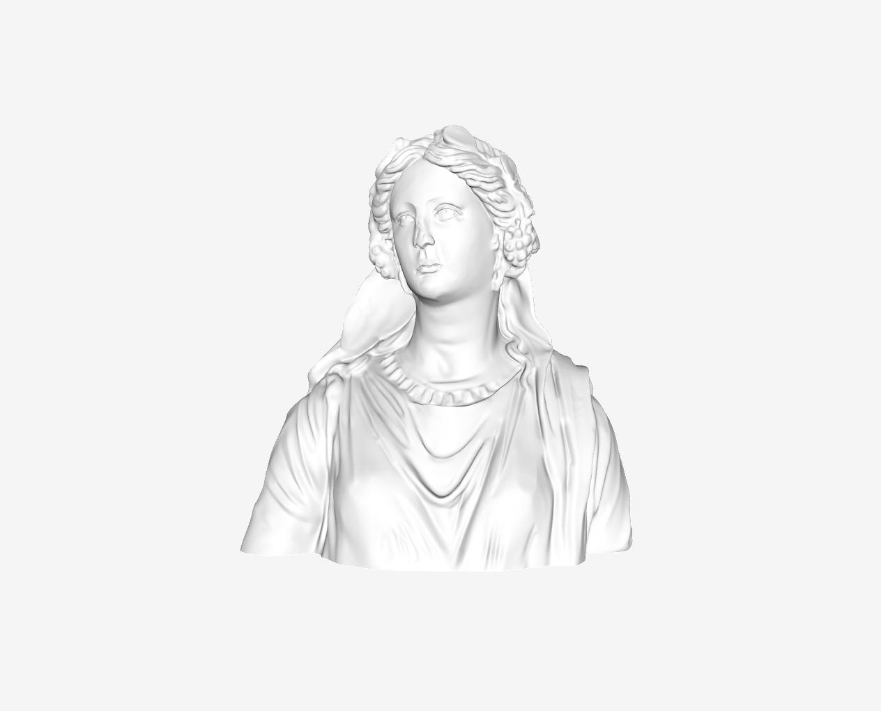 Capture d'écran 2018-09-21 à 15.58.06.png Télécharger fichier STL gratuit Buste d'une femme : Ariane au Louvre, Paris. • Design imprimable en 3D, Louvre